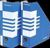 Накопитель для бумаг А4 donau 7648001pl-10 синий 100мм