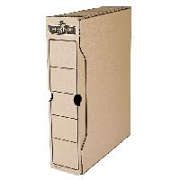 """Бокс для архивации r-kive basics 80мм, 650 листов А4, цвет """"крафт"""" f.91402"""