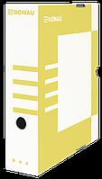 Бокс для архивации документов, 80мм, желтый 7660301pl-11