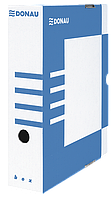 Бокс для архивации документов, 80мм, синий 7660301pl-10