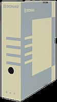 Бокс для архивации документов, 80мм, коричневый 7660301pl-02