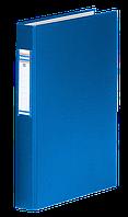 Папка на 4-х кольцах, А4, ширина торца 40 мм, сменный индекс, синий 3735001-10