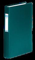 Папка на 4-х кольцах, А4, ширина торца 40 мм, сменный индекс, зеленый 3735001-06