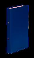 Синяя папка регистратор на 4-х кольцах А4 donau 3733001-10 ширина торца 35 мм