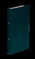 Папка регистратор на 2-х кольцах А4 donau 3732001-06 зеленый ширина торца 35 мм
