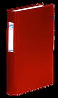 Папка на 2-х кольцах, А4, ширина торца 40 мм, сменный индекс, красный 3734001-04