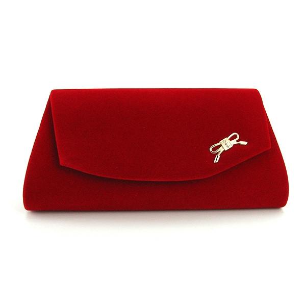 Клатч женский велюровый красный Rose Heart 103232