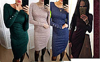 Женское  платье ангора с пуговицами на рукавах разные цвета 42-48