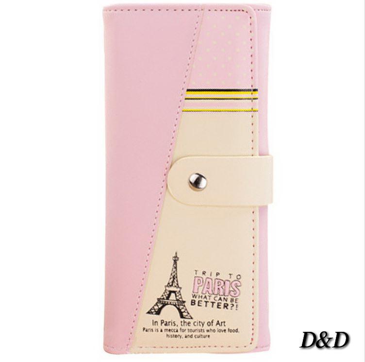 Кошелек женский Париж пудровый