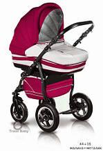 Универсальная коляска Trans baby Mars (9/crem) красный+молоко