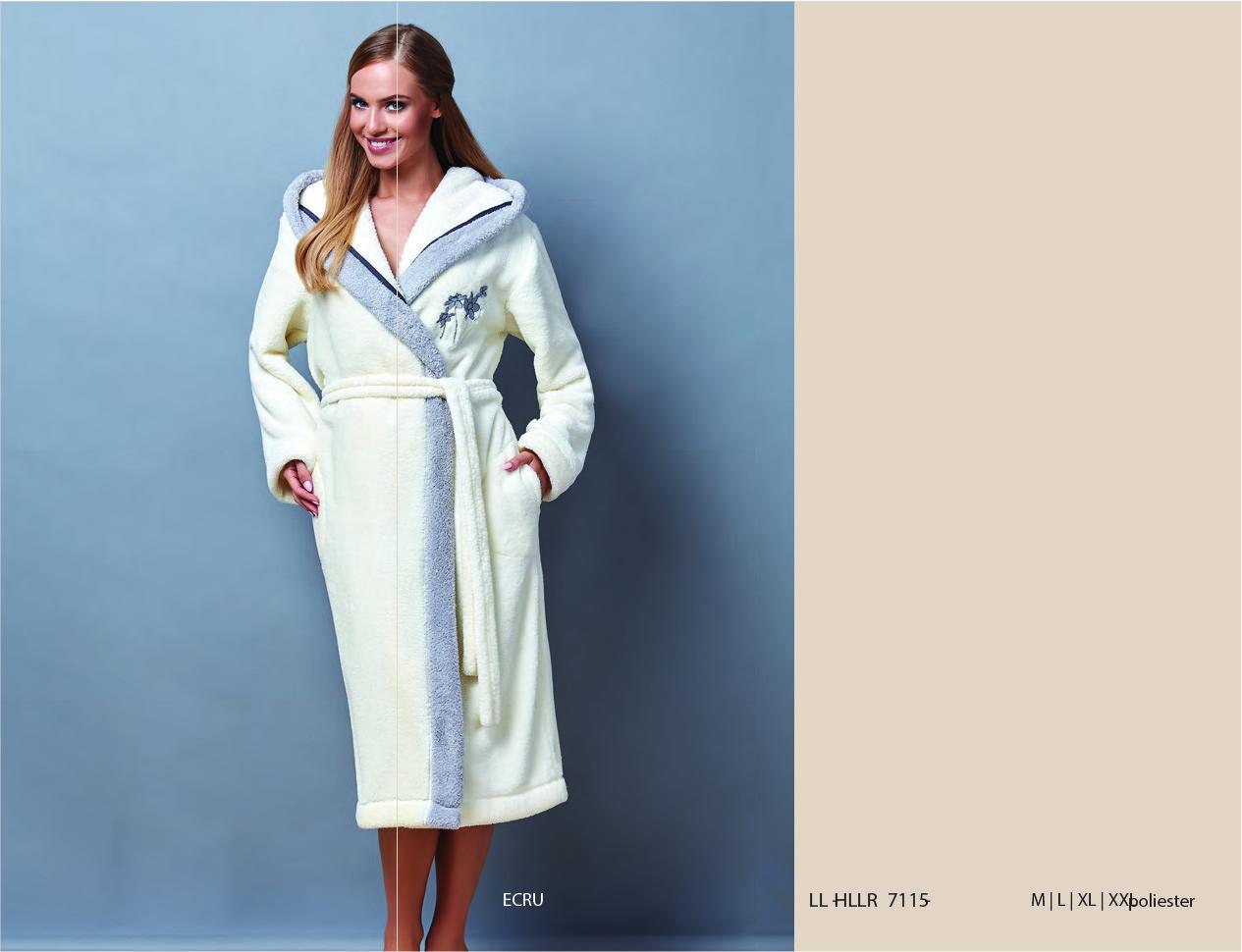 Красивий домашный жіночий халат довгого фасону L&L 7115 HLLR