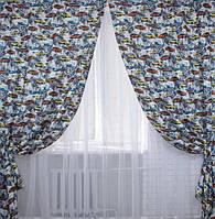 Комплект штор для детской комнаты мальчик машинки