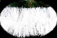 Мишура Новогодько 100 мм.Белая матовая 3 метра