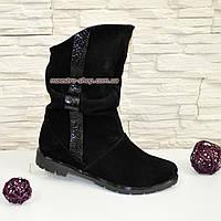 Ботинки женские замшевые зимние свободного одевания, фото 1