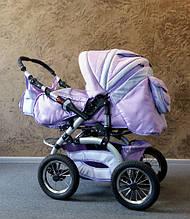 Универсальная коляска-трансформер Trans baby Prado (p130/19) сиреневый+св.сиреневый