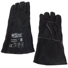 Перчатки замшевые (краги) черные Werk WE2127 (59377), фото 2