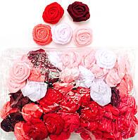Розыразноцветные, пришивные, диаметр 3см (60шт в упаковке)