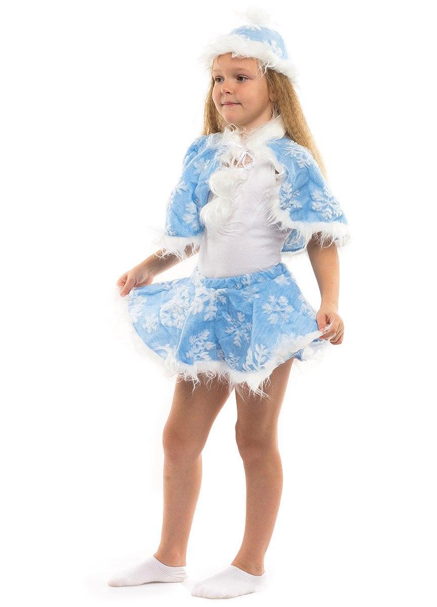 Карнавальный костюм Снежинка в голубом