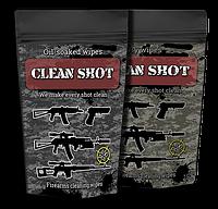 Серветки для чищення зброї Clean Shot (100шт масляні + 100шт сухі)