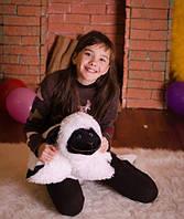 Очаровательная подушка – игрушка Овечка 50*42 см чёрно-белый