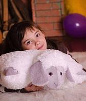 Очаровательная подушка – игрушка Овечка 50*42 см серый