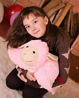 Очаровательная подушка – игрушка Овечка 50*42 см розовый