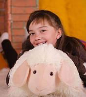 Очаровательная подушка – игрушка Овечка 50*42 см кремовый