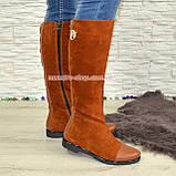 Замшевые коричневые женские сапоги демисезонные. Хит продаж!, фото 2