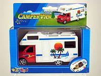 "Машина метал. ""Kinsfun"", дом на колёсах ""Campervan 5""в кор."
