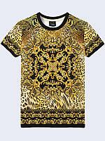 Футболка Орнамент на леопардовом фоне