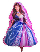 Воздушные шары фольга Принцесса на палочке