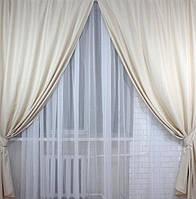 Готовый комплект штор лен