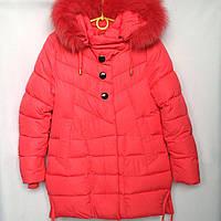 Куртка подростковая зимняя NIKA #6012 для девочек. 134-158 см (9-13 лет). Красная. Оптом., фото 1