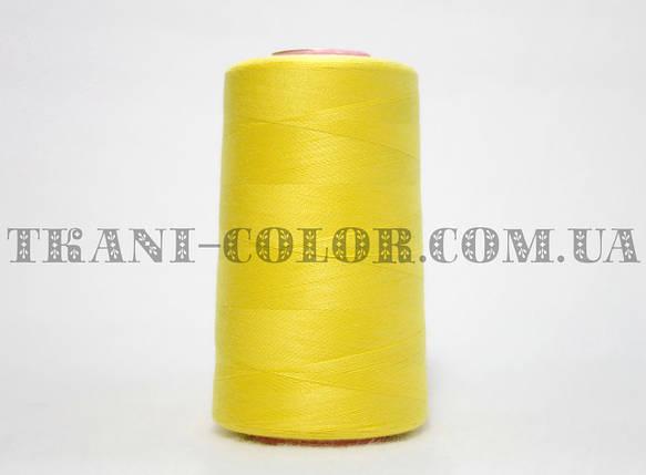 Нитка швейная 40/2 ярко-желтая 4000 ярдов, фото 2