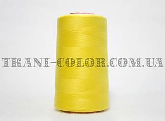 Нитка швейная 40/2 ярко-желтая 4000 ярдов