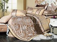 Жаккардовое семейное постельное белье 1702 сатин-люкс 100% хлопок ТМ TIARE Украина