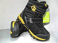 Термоботинки детские зимние чёрные на мальчика 30р.