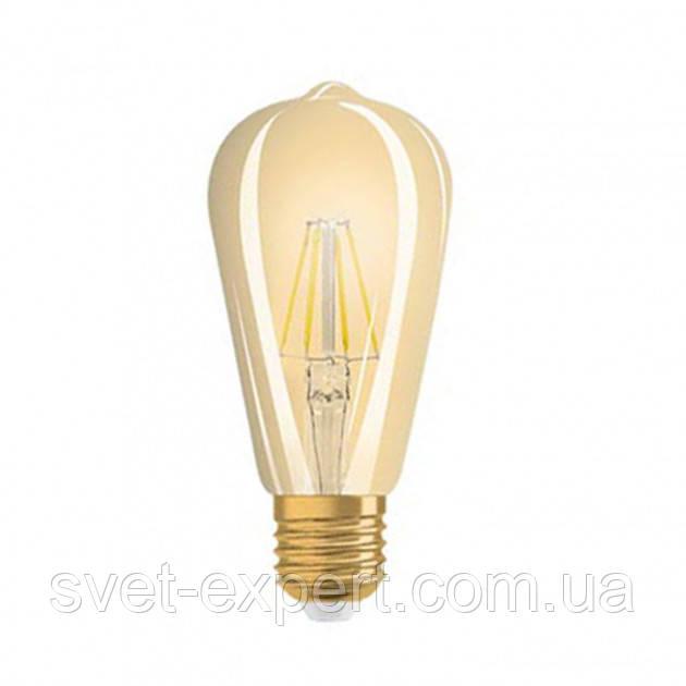 OSRAM 1906LEDison 4W/824 230V FILGD E27 филаментная Gold