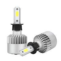 Автолампа LED S2 COB, H3, 8000LM, 6000K, 72W, 9-32V
