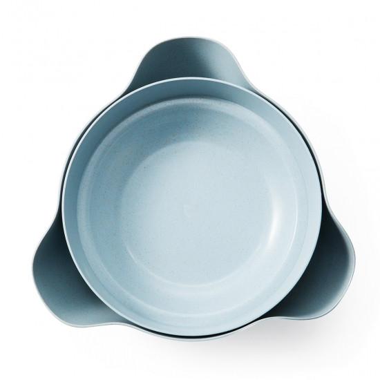 Двойная миска для семечек, орехов голубая