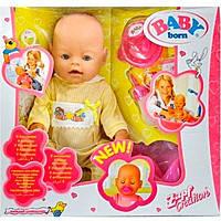 Пупс Baby Born BB 8001-2, комплектация аксессуарами, 42 см высота, одежда из трикотажа.