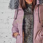 Зимнее женское пальто новинка сезона 2017-2018 - (модель кт-207), фото 2