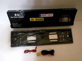 Камера заднего вида в авто номерной рамке с 4 LED подсветкой