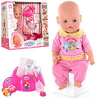 Пупс кукла Baby Born Бейби Борн BB 8001-3, подвижные ручки ножки, пускает слезы, высота 42 см.