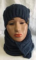 Набор женский шапка и шарф