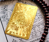 Денежная пластина метал золотой цвет Будда