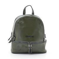 Рюкзак кожаный зеленый Michael Kors style (army green)