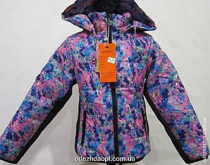Куртка 8-1 в Цветочек мелкий 3277 Осень-Весна