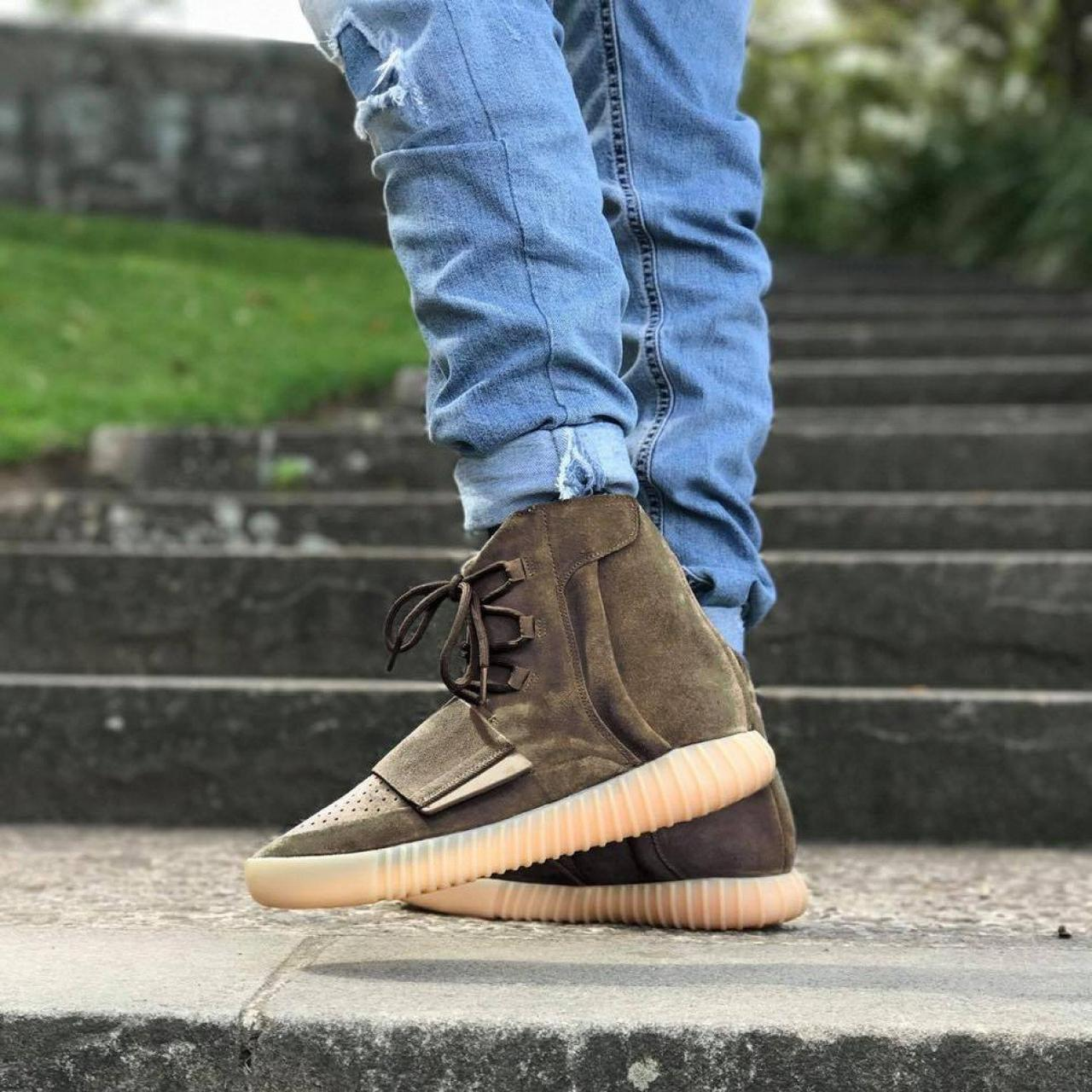 Высокие Мужские Кроссовки Adidas Yeezy Boost 750 Light Brown ... 630450e9281