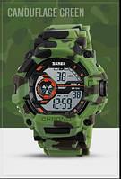 Камуфляжные водостойкие часы Skmei 1233 зеленые